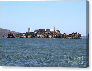 Alcatraz Island In San Francisco California . West Side . 7d14007 Canvas Print by Wingsdomain Art and Photography