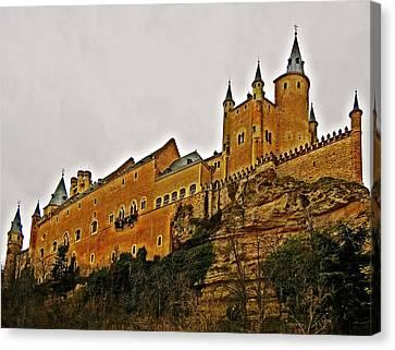 Alcazar De Segovia - Spain Canvas Print by Juergen Weiss
