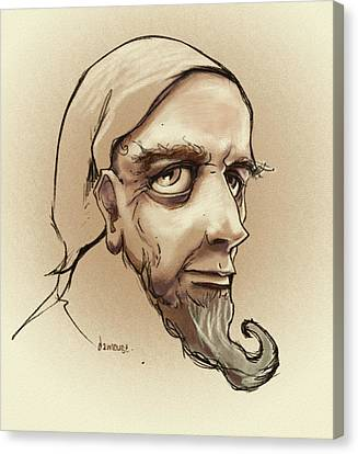 Alchemist Sketch Canvas Print by Dorianne Dutrieux