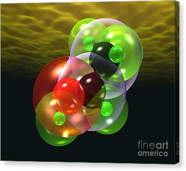 Alcohol Molecule 4 Canvas Print by Russell Kightley