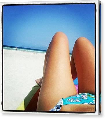 #alcudia #beach #mallorca Canvas Print by Laura Cuenca