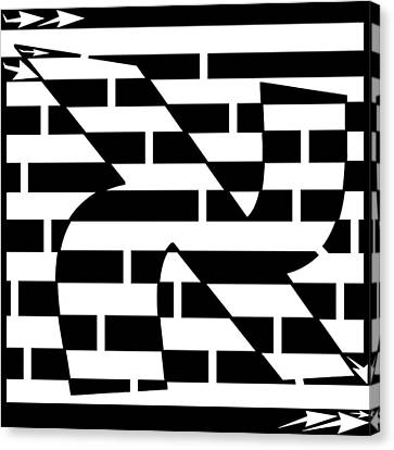 Aleph Maze Canvas Print by Yonatan Frimer Maze Artist