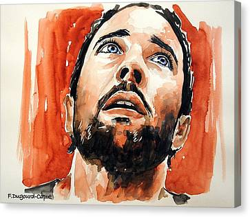 Alex O'loughlin Canvas Print by Francoise Dugourd-Caput