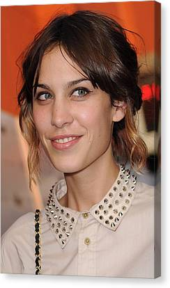Inglourious Basterds Cinema Society Screening Canvas Print - Alexa Chung At Arrivals For Inglourious by Everett