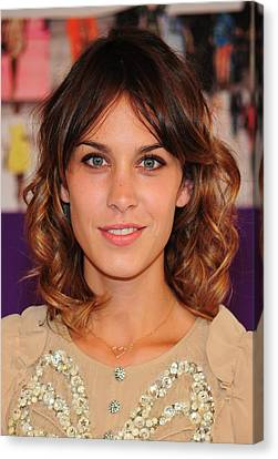 Natural Makeup Canvas Print - Alexa Chung In Attendance For The 2010 by Everett