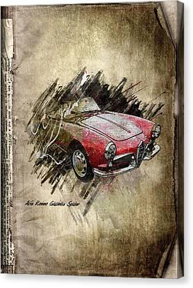Alfa Romeo Canvas Print by Svetlana Sewell