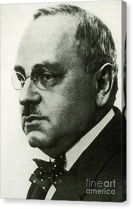 Inferiority Canvas Print - Alfred Adler, Austrian Psychologist by Science Source