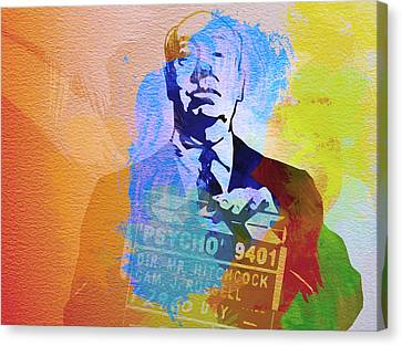 Alfred Hitchcock Canvas Print by Naxart Studio