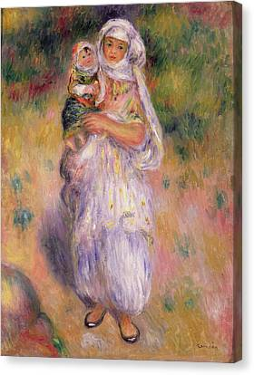 Algerian Woman And Child Canvas Print by Pierre Auguste Renoir