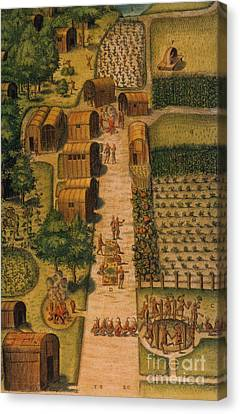 Algonquian Village 1585 Canvas Print