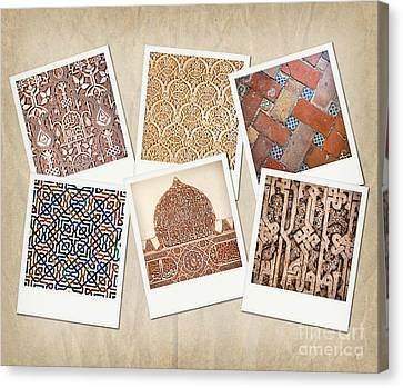 Alhambra Textures Canvas Print by Jane Rix