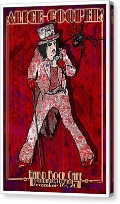 Alice Cooper Canvas Print by John Goldacker