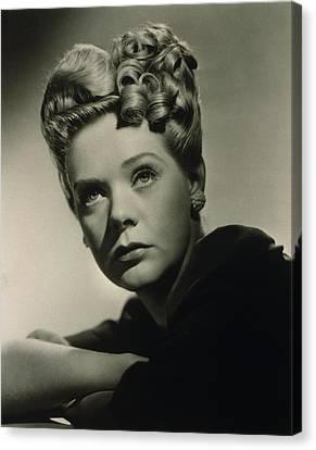 Alice Faye 1915-1998 American Singer Canvas Print by Everett