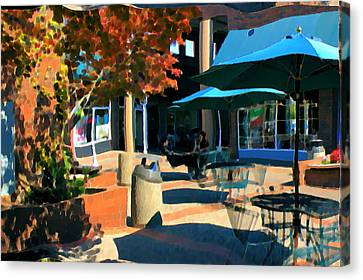 Canvas Print featuring the mixed media Alice's Wonderland Cafe by Terence Morrissey