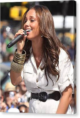 Alicia Keys On Stage For Cbs The Early Canvas Print by Everett