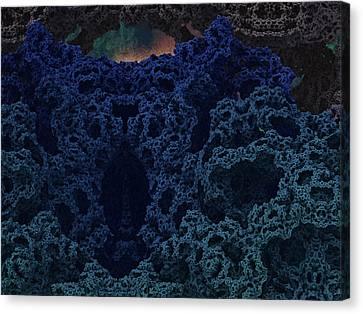 Alien Cave Canvas Print by Thomas  MacPherson Jr