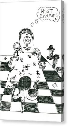 Alien Chess Canvas Print