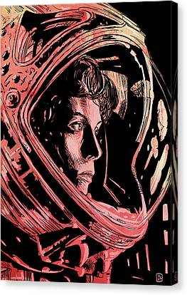 Icon Canvas Print - Alien Sigourney Weaver by Giuseppe Cristiano