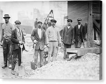 Alien Subway Workers With Shovels Canvas Print by Everett