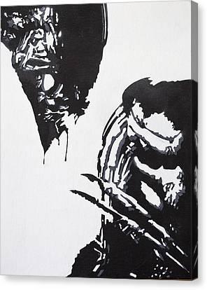 Alien Vs Preditor Canvas Print by Stephen Ford