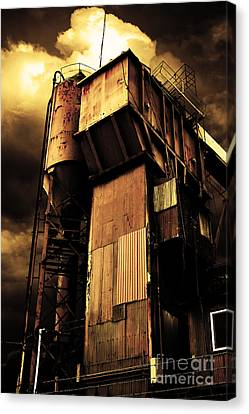 Alive And Well In America . The Old Concrete Plant In Berkeley California . Golden . 7d13967 Canvas Print by Wingsdomain Art and Photography