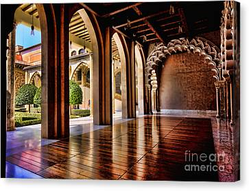Aljaferia Palace Zaragoza Colour II Canvas Print by Jack Torcello
