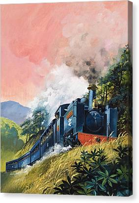 All Aboard For Devil's Bridge Canvas Print by English School