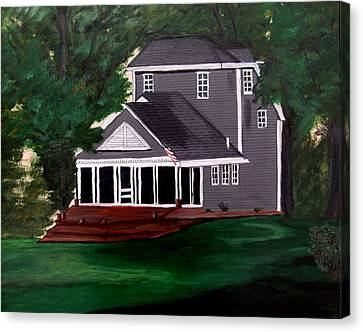Canvas Print featuring the painting All American by Ayasha Loya