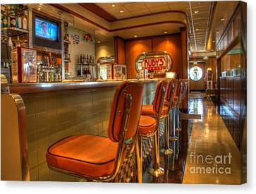 All American Diner 3 Canvas Print by Bob Christopher