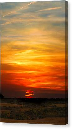 Canvas Print featuring the photograph All Hallows Eve Sunset by Rod Seel