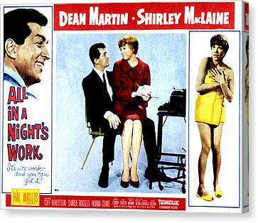 Covering Up Canvas Print - All In A Nights Work, Dean Martin by Everett