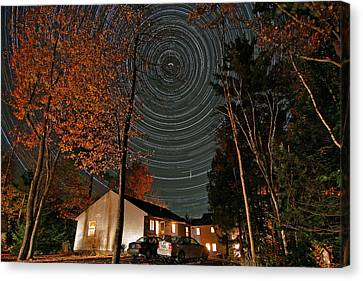 All Night Star Trails Canvas Print by Larry Landolfi