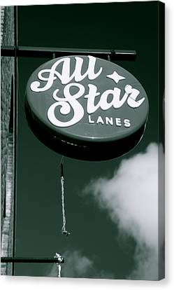 All Star Lanes Canvas Print by Jez C Self