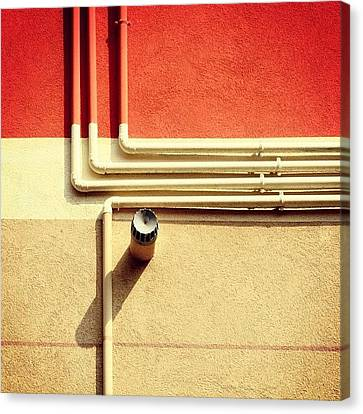 All That Jazz #geometry #color #pipes Canvas Print