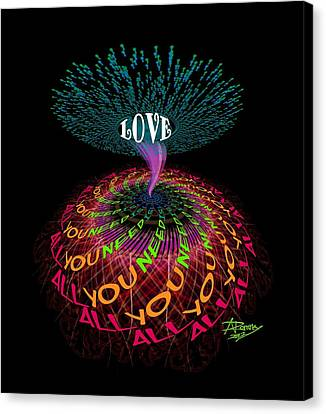 All You Need Is Love B1 Canvas Print