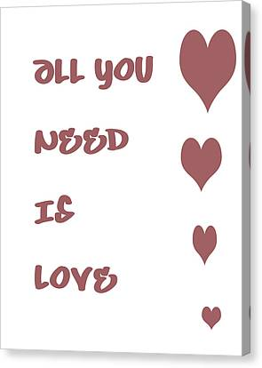 All You Need Is Love - Plum Canvas Print by Georgia Fowler