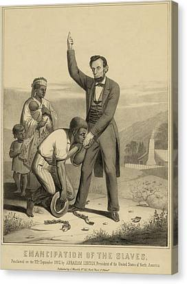 Allegorical Print Of Lincoln Canvas Print by Everett