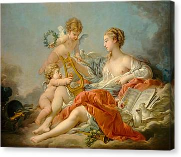 Allegory Of Music Canvas Print