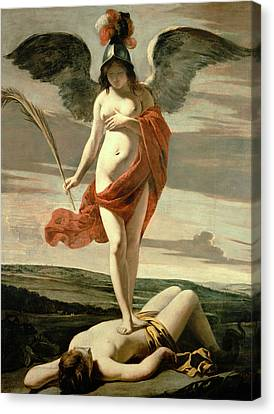 Allegory Of Victory Canvas Print by Louis Le Nain