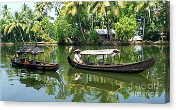 Alleypey Backwaters India Canvas Print by Sophie Vigneault