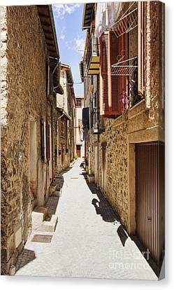 Alleyway In France Canvas Print
