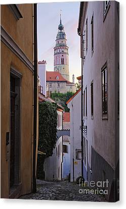 Alleyway Through An Old City Canvas Print by Jeremy Woodhouse
