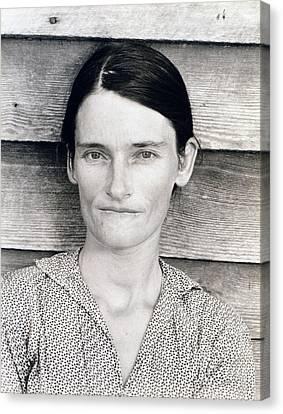 Allie Mae Burroughs, Wife Of Floyd Canvas Print by Everett