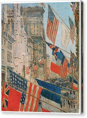 Allies Day Canvas Print by Frederick Childe Hassam