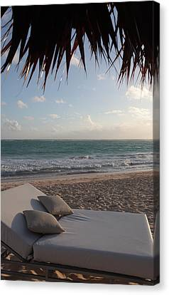 Alluring Tropical Beach Canvas Print by Karen Lee Ensley