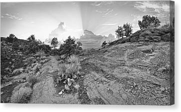 Almost Home Bw Canvas Print