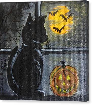 Almost Midnight Canvas Print by Julie Brugh Riffey