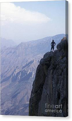 Canvas Print featuring the photograph Alone At Last Copper Canyon Mexico by John  Mitchell