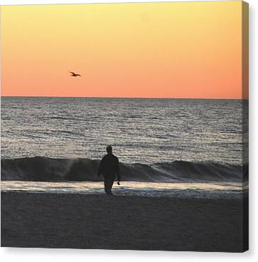Alone At Sunset Canvas Print by Richard Bryce and Family