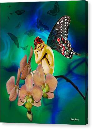 Alone I Wait Canvas Print by Diana Shively